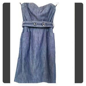 Trina Turk sweetheart strapless dress with belt